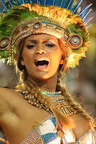brazil carnaval samba dancer