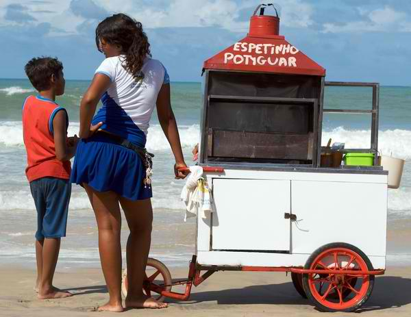 ponta negra beach food peddler