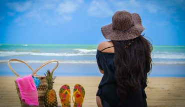 brazil beach girl back