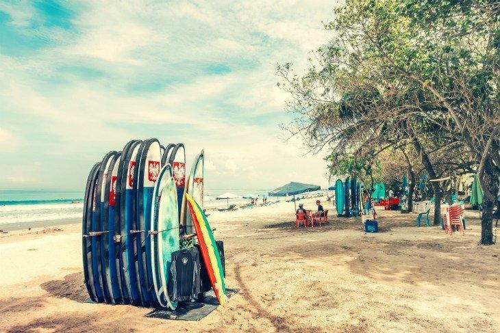 surfing beach brazil