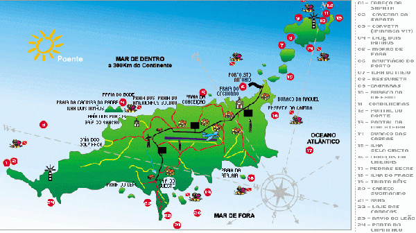 Fernando de Noronha Diving Sites